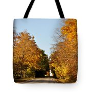 Fall Road Tote Bag