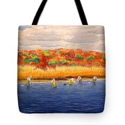 Fall Shellfishing In New England Tote Bag