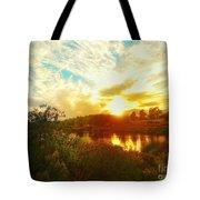 Fall Sunset At Lake Murray San Diego Tote Bag