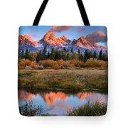 Fall Teton Tip Reflections Tote Bag