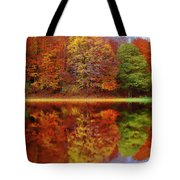 Fall Waters Tote Bag by Harry Warrick