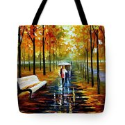 Fall  White Umbrella Tote Bag