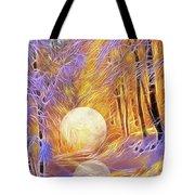 Falled Moon Tote Bag