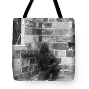Fallen Airman Black And White Tote Bag
