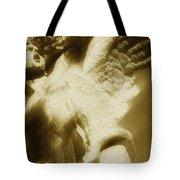 Fallen Angel Vertical Gold Tote Bag
