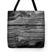 Fallen Black And White Trees And Lines In Nature Tote Bag