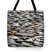 Fallen Leaves On A Street At Autumn Tote Bag