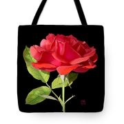 Fallen Red Rose Cutout Tote Bag