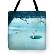 Fallen Through The Ice Tote Bag by Jill Battaglia