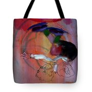 Falling Boy Tote Bag
