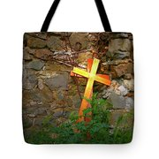 Falling Crosses Tote Bag