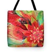 Falling Flower Tote Bag