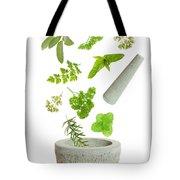 Falling Herbs Tote Bag by Amanda Elwell