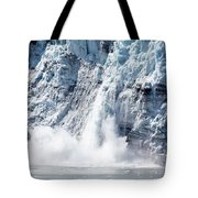 Falling Ice In Alaska Tote Bag