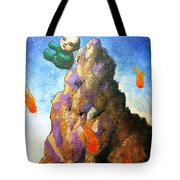 Falling Off The Mountain Tote Bag