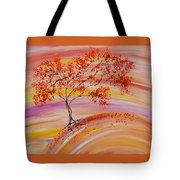 Falling On A Hill Tote Bag