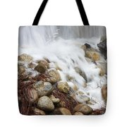 Falling On Rocks Tote Bag