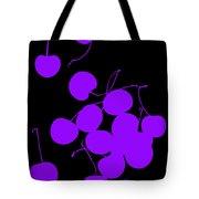 Falling Purple Cherries Tote Bag