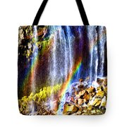 Falling Rainbows Tote Bag