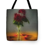 Falling Red Petals Tote Bag
