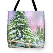 Falling Snowflakes Tote Bag