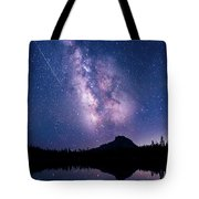 Falling Star Over The Sierras Tote Bag