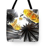 Falling Stars Abstract Tote Bag