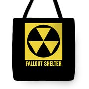 Fallout Shelter Sign Tote Bag