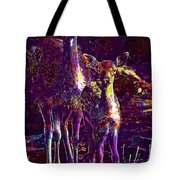 Fallow Deer Doe Fawn Hirsch Young  Tote Bag