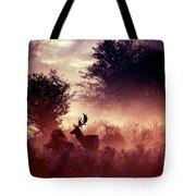 Fallow Deer In Fairytale World Tote Bag