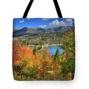 Fall's Finery At Rock Creek Lake Tote Bag