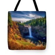 Falls From Up High Tote Bag