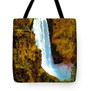 Falls Of The Yellowstone Tote Bag