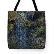 Falls Woodcut Tote Bag
