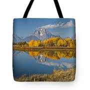 Falltime At Oxbow Bend Tote Bag