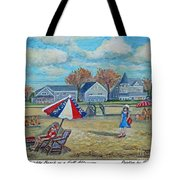 Falmouth Heights Beach On A Fall Afternoon Tote Bag