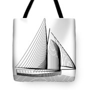 Falmouth Oyster Boat Tote Bag