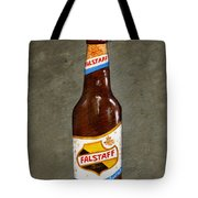 Falstaff Beer Bottle Tote Bag by Elaine Hodges
