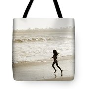 Family At Play On Beach Tote Bag