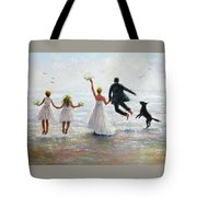 Family Beach Wedding Tote Bag