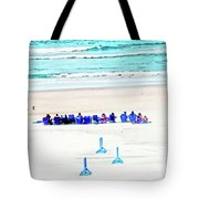 Family Day At Beach Tote Bag