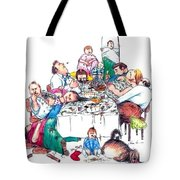 Family Dinner Tote Bag