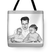 Family In Pointillism Tote Bag