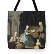 Family Group Near A Harpsichord, 1739 Tote Bag