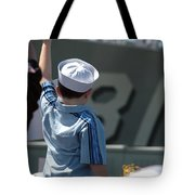 Family Members Welcome Home The Sailors Tote Bag