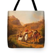Family With Animals Tote Bag