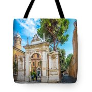 Famous Arc From Basilica Di San Vitale In Ravenna, Italy Tote Bag