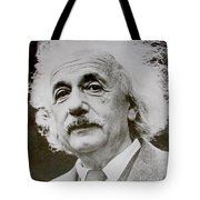 Famous Photograph Of Albert Einstein  Tote Bag