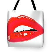 Famous Red Lips Tote Bag