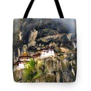 Famous Tigers Nest Monastery Of Bhutan 3 Tote Bag